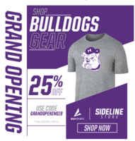 Bulldogs Sideline Store Grand Opening 25% off until 9/27