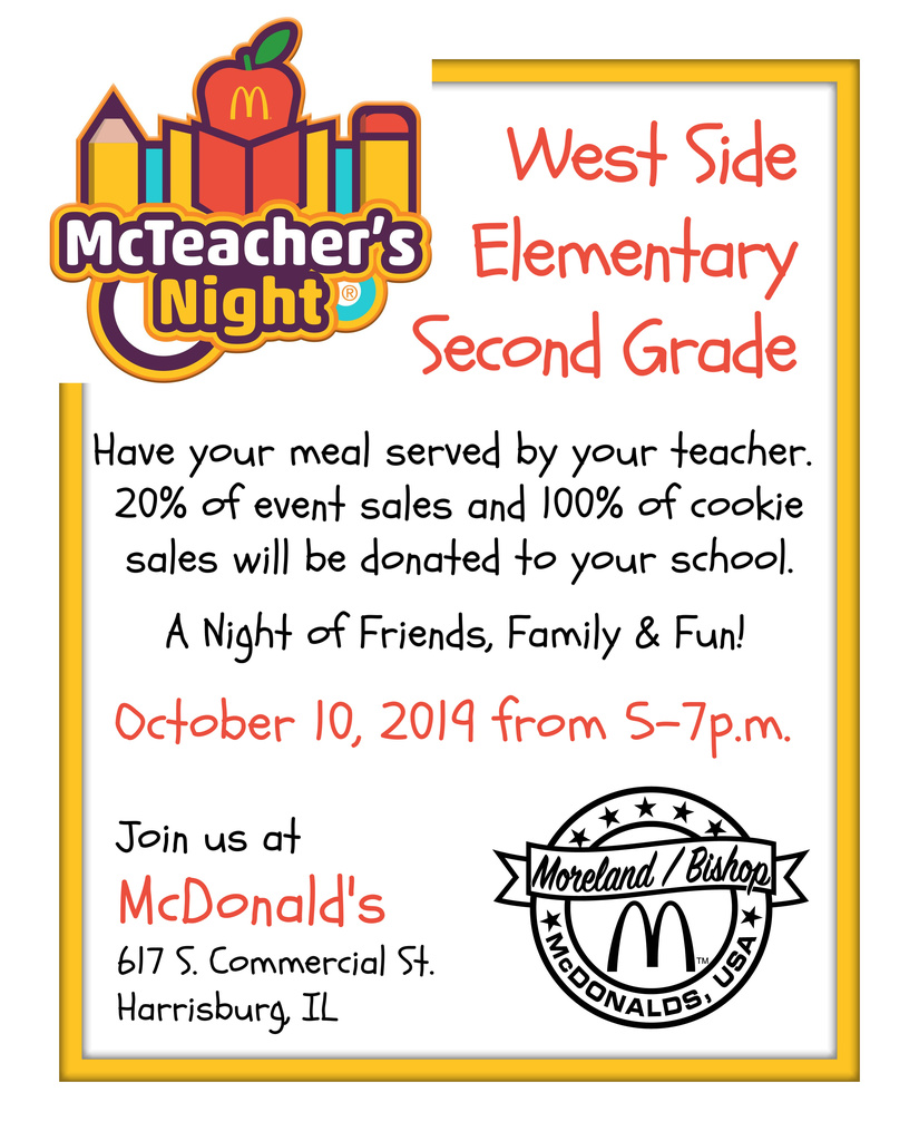 2nd Grade McTeacher's Night
